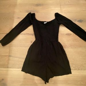 Black Hollister Romper:)